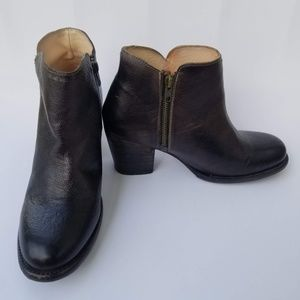 Bed Stu Heeled Ankle Brown Boots Booties Sz 10